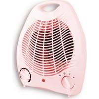 Rowell 2000 W Elektrikli Fan Isıtıcı - Pembe