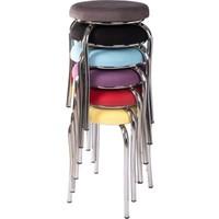 Ekip Shop Tabure Mutfak Sandalyesi Tay Tüyü Kumaş 6 Adet