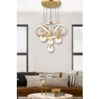 Luna Lighting Modern LED Avize 3+1 Gold Ledli Avize