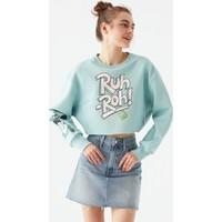Mavi Kadın Scooby Doo Baskılı Yeşil Sweatshirt 1600795-34102