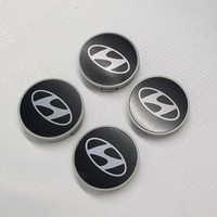 Duru Doruk Jant Göbeği Hyundai 58/55 55MM Yuva 4'lü Set Siyah Ppp