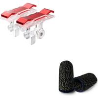 Madepazar Kırmızı Tetik ve Pubg Parmak Eldiven Set