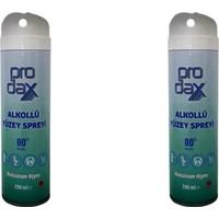 Prodax Alkollü Yüzey Spreyi 200 ml 80 ° 2 Lİ