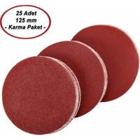 Zubizubi 125 mm Yedek Cırt Zımpara Karma Paket (25 Adet)