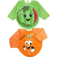 Belinay 2 Adet Giyilebilir Meyve Desenli Kollu Mama Önlüğü