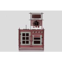 Emrin Oyuncak Hediyelik - Pembe Renk-Ahşap Oyuncak Mutfak Seti