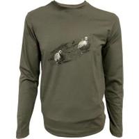 Spayko Kuşlu Yeşil Uzunkol T-Shirt S