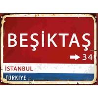 Hayal Poster Retro Poster Beşiktaş Yön Tabelası