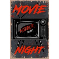 Aldebaran Reklam Retro Movie Night Ahşap Poster