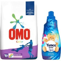 Omo Color Toz Deterjan 5,5 kg +Yumos Extra Yumusatıcı 1440 ml Lılyum