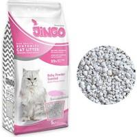 Jingo Bebek Pudra Kokulu Bentonit Kedi Kumu Kalın Taneli 5 L