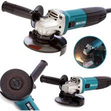Graizer Alman 2000 Watt Professional Sjs Çift Metal Şanzuman Avuç Içi Taşlama Makinesi 125 mm Mavi