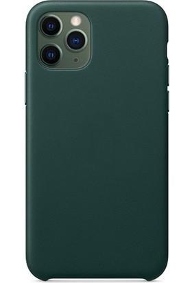 Magazabu Apple Iphone 11 Pro Kılıf Lansman Deri Dizayn Logosuz - Yeşil