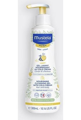 Mustela Cold Cream ve Organik Balmumu Içeren Besleyici Bebek Şampuanı 300 ml
