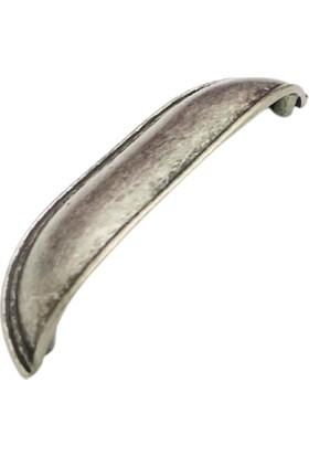 Ahenk Antik Gümüş 96 mm Çanak Kulp Çekmece Dolap Mutfak Kulbu Tas Kulp