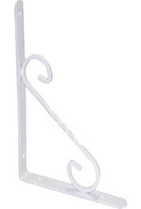 Beşel Ferforje Raf Altı Beyaz No:2 Dekoratif Raf Ayağı 15*20 cm
