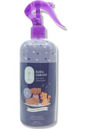 Gallipoli Lavender %100 Lavanta Yağlı Bitkisel 400ML Kedi Köpek Koku Giderici Sprey +400ML Kedi Köpek Şampuanı 2'li Set
