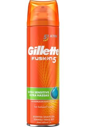Gillette Fusion Ultra Nemlendirici + Serinletici Hassas 200ML Tıraş Jeli 3 Çeşit 1 Arada