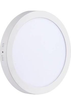 Aral 24 W Beyaz Işık Sıva Üstü Yuvarlak LED Panel Armatür