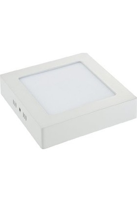 Aral 18 W Sıva Üstü Kare Beyaz Işık LED Panel Armatür