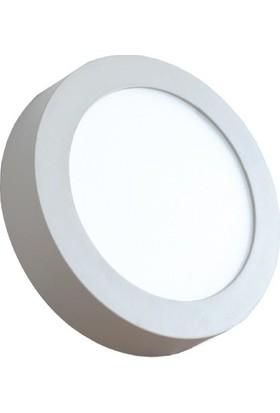Aral 18 W Sıva Üstü Beyaz Işık Yuvarlak LED Panel Armatür