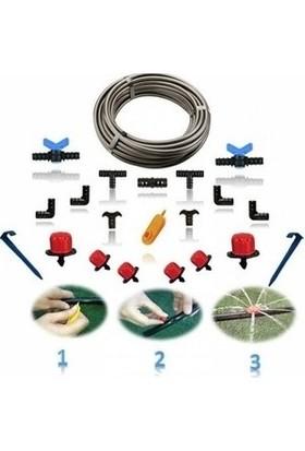 Mgf Plast Mgf 16 mm Damla Sulama Sistemi Hortumu Borusu ve Ek Parçaları Seti (Mt. Seçeneklidir)