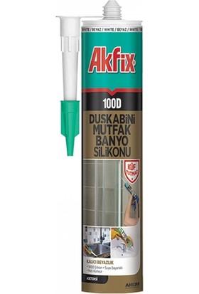 Akfix 100D Duşakabin Mutfak Banyo Silikonu Şeffaf 310 ml