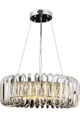 Luna Lighting Modern Lüx 60'lık Kristal Taşlı Avize