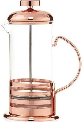 Hanedanev Rosegold Bakır Süzgeçli Çay ve Kahve Kupası French Press 600 ml