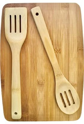 Excellent Houseware Bambu 3 Parça Ahşap Kesme Tahtası Seti