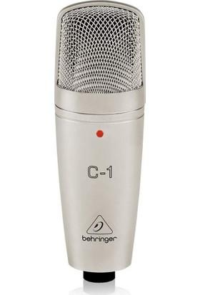 Behringer UMC22 Ses Kartı, Behringer C-1 Kondenser Mikrofon, Behringer HPS3000 Stüdyo Kulaklığı, Masa Tipi Mikrofon Standı + Shock Mount + Pop Filtre, Euroclub - Cmc 500B 5 Metre Xlr Mikrofon Kablosu