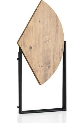 Sivasgözde Portatif Katlanır Yuvarlak Balkon Mutfak Masa 3 Sandalye Takım 80CM