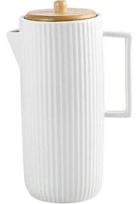 Perotti Lısbone 1000 Ml Porselen Bambu Kapaklı Yağlık
