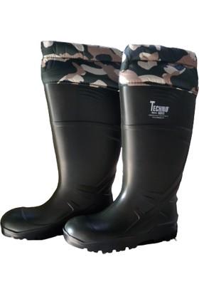 Techno Boot Poliüretan Uzun Konçlu Çizme