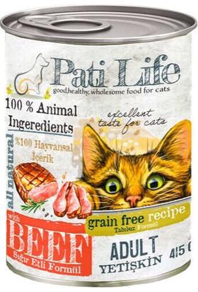 Pati Life Tahılsız Biftekli Kedi Konservesi 415 Gr 24'lü