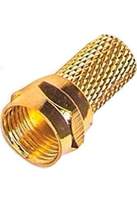 Uğur F Konnektör(Gold) Rg 6 F Konnektör Pakette 100 Adet Bulunur