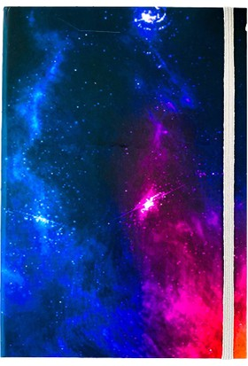 Favorim50Ton Lastikli Orta Boy Defter - Galaxy Space