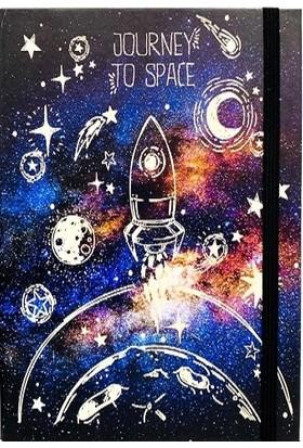 Favorim50Ton Lastikli Orta Boy Defter - Journey To Space