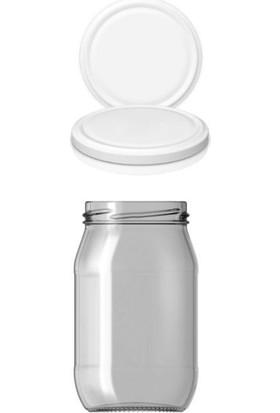 Paşabahçe Cam Kavanoz 370 cc Beyaz Kapaklı 6 Adet Reçel Bal