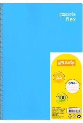Mynote UC38100-K Flex A4 100 Yaprak Kareli Defter Açık Mavi