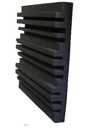 Desibel Akustik Sünger Karma Kanallı Akustik Panel 49 x 49 cm 15/20 Dns 7cm