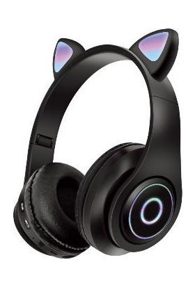 Buythetech Bluetooth LED Işıklı Kedi Kulaklık