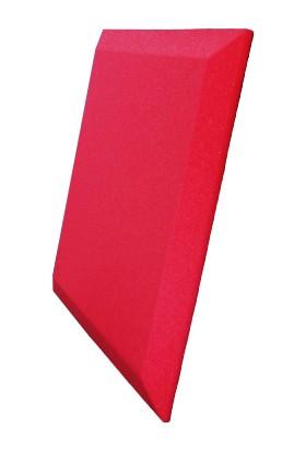 Desibel Akustik Sünger Düz Pahlı Akustik Panel Kırmızı 49X49CM 30MM 15/20 Dns