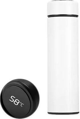 Onetick D8 LED Sıcaklık Göstergeli Çelik Termos 500 ml Beyaz
