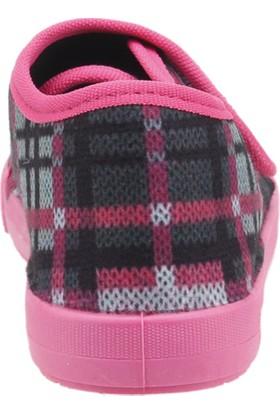 Sanbe 106P126 Okul Kreş Kız / Erkek Çocuk Çocuk Keten Panduf Ayakkabı