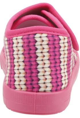 Sanbe 106P123 Okul Kreş Kız Çocuk Keten Panduf Ayakkabı