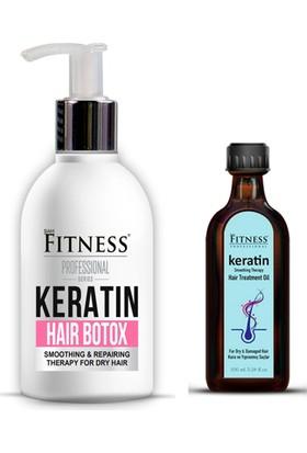 Sam Fitness Professional Onarıcı Yıpranmış Kuru Saç Botoksu Hair Botox 250 ml + Keratin Yağı 100 ml