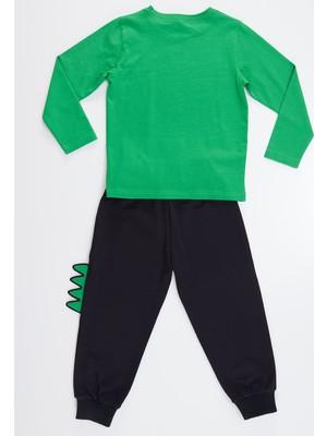 Denokids Tırtırlı Dino Erkek Çocuk Pantolon Takım