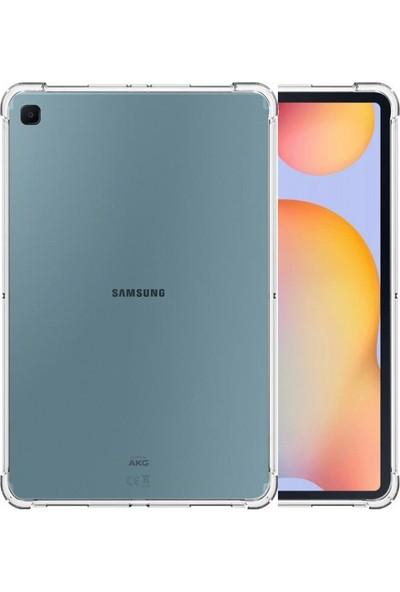 i-Stone Samsung Galaxy Tab S6 Lite 2020 10.4 inç Köşe Korumalı Anti Şok Şeffaf Tablet Kılıfı + Nano Glass Ekran Koruyucu Şeffaf