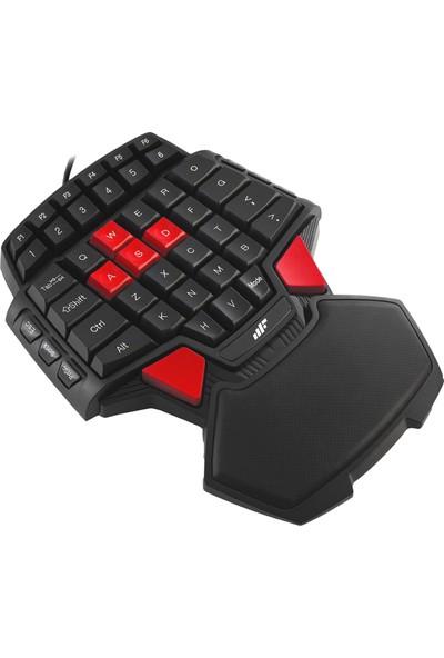 MF Product Strike 0581 Kablolu Yarım Tek El Mini Oyun Klavyesi Siyah
